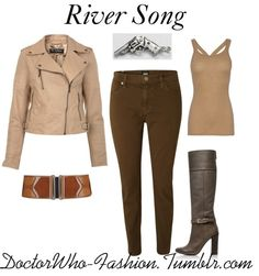 """River Song"" by doctor-who-fashion ❤ liked on Polyvore"
