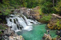 opal creek -  swimming pool at Cascadia de los Ninos (waterfall of the children), near Merten Mill along the Opal Creek Trail.