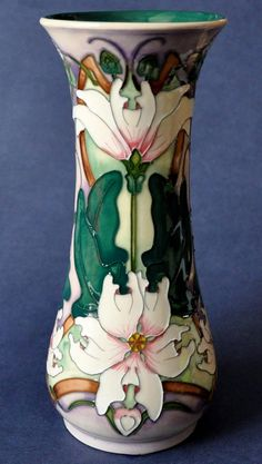 Moorcroft Pottery Blakeney Mallow 364/8 Sarah Brummell-Bailey http://www.bwthornton.co.uk/moorcroft.php