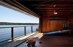 Lake house boat-house