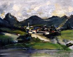 1960.46.01 Piero Cervi, Paesaggio trentino