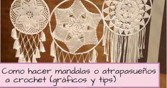 dreamcatcher mandalas to crochet Dream Catcher Boho, Dream Catchers, Yarn Over, Doilies, Crochet Top, Deco, Crochet Ideas, Ideas Para, Amanda