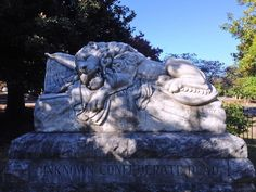 "The ""Lion of Atlanta"" is Oakland Cemetery's silent sentinel."