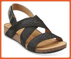 Women's Clarks, Perri Dunes comfortable Sandals BLACK SNAKE 7 W - Sandals for women (*Amazon Partner-Link)