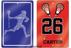 Lax up your space with our lacrosse room signs!