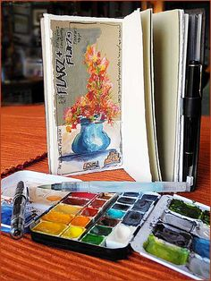 My Favorite Watercolor Boxes...Midori Traveler + paint palette by observeclosely