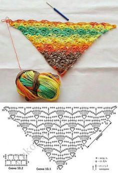 Pretty Crochet Shawl: diagram