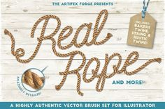 Real Rope - Illustrator Brushes by The Artifex Forge on @creativemarket
