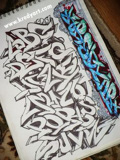 Style Wildstyle is a complicated and intricate form of graffiti. For example graffiti alphabet letters on the use of force Wildstyle. Letras Graffiti 3d, Graffiti Art, Graffiti Lettering Alphabet, Graffiti Alphabet Styles, Graffiti Writing, Tattoo Lettering Fonts, Best Graffiti, Graffiti Tagging, Graffiti Styles