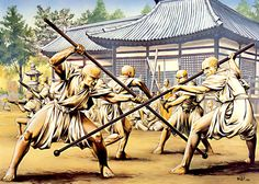 The warrior monks of Negoroji in training, c. 1570