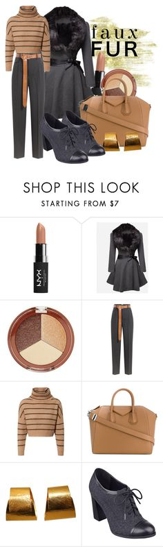 """Faux Fur"" by baratheon-girl ❤ liked on Polyvore featuring NYX, WithChic, Mineral Fusion, Golden Goose, Brunello Cucinelli, Givenchy, Hervé Van Der Straeten and Nine West"