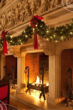 holiday, christmas time, fireplac, merri christma, christmas garlands