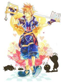 Sora - Kingdom Hearts II credits to the artist! Kingdom Hearts Fanart, Sora Kingdom Hearts, Kindom Hearts, Drawing Reference Poses, Drawing Ideas, Art Folder, Studios, Cartoon Games, Vanitas