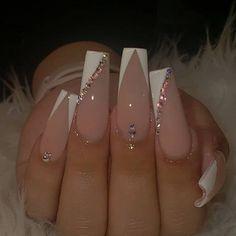 Acrylic Nails Coffin Pink, Simple Acrylic Nails, Wedding Acrylic Nails, Wedding Nails, Aycrlic Nails, Swag Nails, Hair And Nails, Manicure, Cute Acrylic Nail Designs