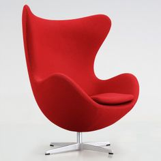 Fritz Hansen Arne Jacobsen Egg Chair Red Design Tex Upholstery