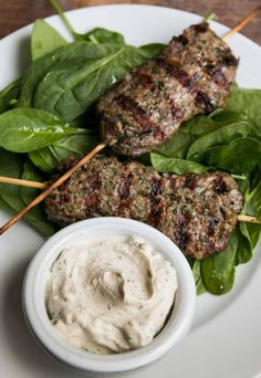 Spicy meat skewers from Tartine in San Francisco, this delicious grilled meat recipe is perfect for a bbq or party. Makes a great burger, too!