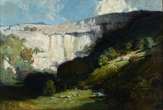 """A fine-art giclée reproduction on canvas of """"Malham Cove"""" by Australian landscape painter Sir Arthur Ernest Streeton, a leading member of the Heidelberg School. This work was completed after Streeton's extensive travels in Western Europe and North Af. Australian Painters, Australian Artists, Landscape Walls, Landscape Paintings, Landscapes, Landscape Photos, Oil Paintings, Google Art Project, Creative Artwork"""