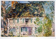 Childe Hassam (American, 1859–1935). The Brush House, 1916.