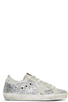 46d062df78f Golden Goose - SSENSE Exclusive Silver Glitter Superstar Sneakers Shopping