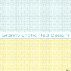 Summer Morn: 12 Digital Papers in Teal Blue and by GrannyEnchanted