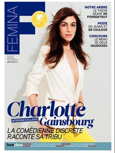 Charlotte Gainsbourg on the cover of Femina Switzerland, August 2011