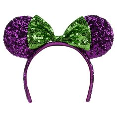 Halloween Minnie Mouse Ear Headband with Bow