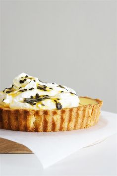 Passionfruit Tart with Orange Mascarpone Cream