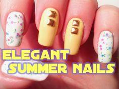 Elegant summer nails  //  Uñas elegantes de verano