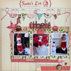 charlie by marypats, via Flickr Christmas Scrapbook Page