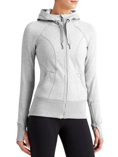 Strength Hoodie Don't let cold weather scare you away from an outdoor run, this set-in collar will give you extra coverage that other sweatshirts lack. Made of a polyester, cotton blend this sweatshirt also offers you the breathability your body needs during all of its workouts. ($44.99 - $98; athleta.gap.com)