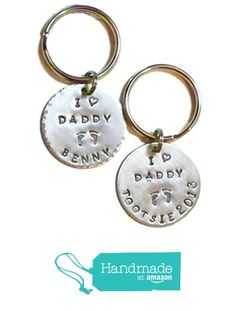 Custom Personalized I love Daddy Hand Stamped Keychain with little babyfeet from Dolphin Moon Creations https://www.amazon.com/dp/B01MSVEWWA/ref=hnd_sw_r_pi_dp_2ITlzbNDC32N3 #handmadeatamazon