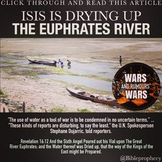 Euphrates River Drying Up Boat with 125 Syrian r...