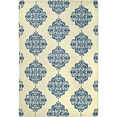 @Overstock - Add unique style and warmth to your living space with this hand-hooked miff wool rug. Made from 100 percent pure wool, this transitional rug features an ivory background with intricate blue accents to add a burst of color and personality.http://www.overstock.com/Home-Garden/Hand-hooked-Miff-Ivory-Blue-Wool-Rug-53-x-83/4446929/product.html?CID=214117 $184.99
