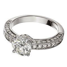 bulgari 3carat diamond and pave diamonds in platinum bulgari