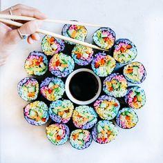 Rainbow Sushi Rolls @elsas_wholesomelife
