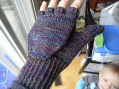 "Free knitting pattern from Ravelry ""podster"" convertible mittens / gloves. Thumb has a little flap, too. Try these first."