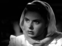 Ingrid Bergman:   Observe her here and you'll understand  some of Bergman's appeal.  The loveliness of her face carried in equal parts 'goodness' and a brand of healthy  sexiness.  Later, as she aged, her face carried a far amount of kindness and Europeanized intrigue. All these stirring qualities aided in her well in her acting ability-- which most would agree, was quite superior. L.M. Ross
