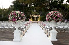 night wedding chuppah