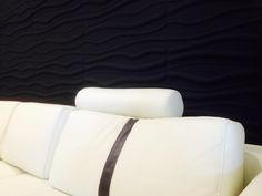 3D wall panels painted black 3d Wall Panels, Bed Pillows, Pillow Cases, Wallpaper, Black, Pillows, Black People, Wallpapers