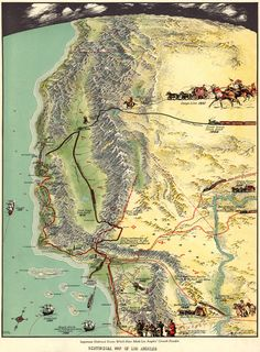 Historical map of Los Angeles 1929