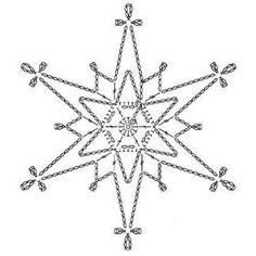 15 crochet snowflakes patterns- free patterns – Turcoaz cu Vanilie - Her Crochet Crochet Snowflake Pattern, Crochet Stars, Christmas Crochet Patterns, Crochet Motifs, Crochet Snowflakes, Crochet Diagram, Christmas Snowflakes, Thread Crochet, Crochet Doilies