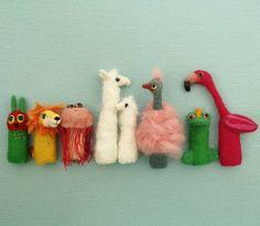 Happy little friends Puppets, Etsy, Christmas Ornaments, Friends, Holiday Decor, Flamingo, Happy, Instagram, Felt