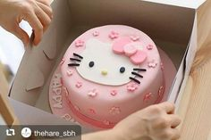 Cakes Puddings Trifles Cobblers etc. Note: Pies Cupcakes Cookies Bars & Candy posted on separate boards Torta Hello Kitty, Hello Kitty Fondant, Hello Kitty Cupcakes, Hello Kitty Birthday Theme, Birthday Cake For Cat, Anniversaire Hello Kitty, Victoria Cakes, Girl Cakes, Cute Cakes