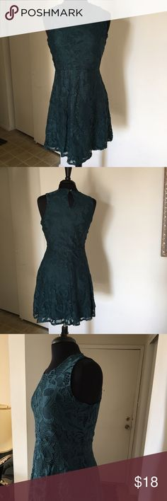Brand New Women's Fashionable Dress/ On Sales👗👠 This dress is very stylish and classic for women and the color of this dress is Tennis Green or Basic Green which is very match with the silver, black, and tennis green or basic green colors of shoes, this dress is brand new and on the holiday sales, this dress has made from Lace: 93% Nylon/ 7% Spandex, Lining: 100% Polyester 👗👛👠👒 Dresses Midi