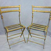 1800s folding garden chairs