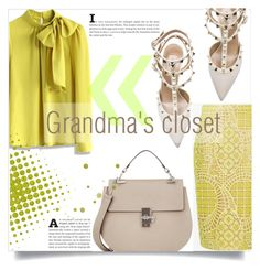 """Grandma's Closet"" by maryjane95 ❤ liked on Polyvore featuring Chicwish, Valentino, Alexis, Chloé, outfit and ootd"