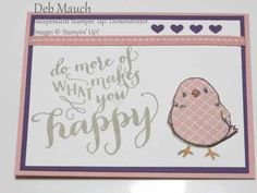 Happy Chick by dcmauch - Cards and Paper Crafts at Splitcoaststampers