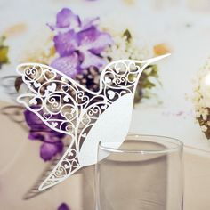50pc Humming Love Bird Laser Cut Glass Place Name Cards Wedding Xmas Invitation in Home, Furniture & DIY, Wedding Supplies, Cards & Invitations | eBay