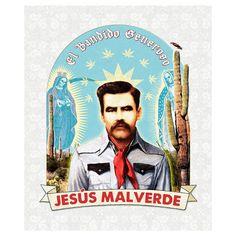 Jesús Malverde Poster Print by Guy Sparger