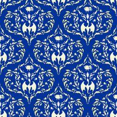 Wayward Baroque Blue Small fabric by leopardessmoon on Spoonflower - custom fabric